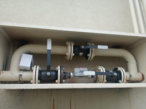 Место установки счетчика газа